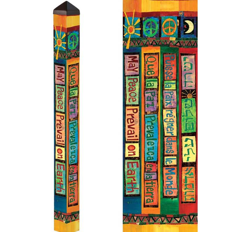 4 u0026 39  sun and moon peace pole