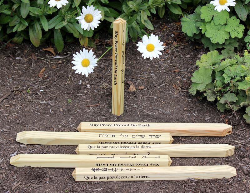 Garden Peace Pole